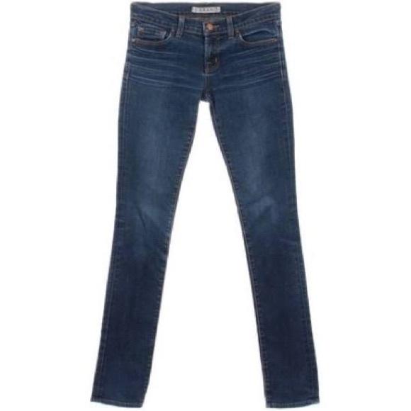 J Brand Denim - J Brand Size 25 Low Rise Pencil Leg Skinny Jeans